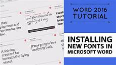 How Can I Download Word For Free Installing New Fonts In Microsoft Word Word 2016