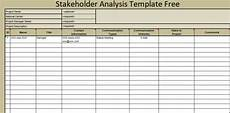 Stakeholder Analysis Template Stakeholder Analysis Template Free Microsoft Excel Templates
