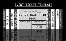 Concert Ticket Invitation Template Free Concert Ticket Templates Free