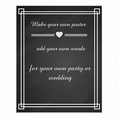 Design Your Own Poster Free Chalkboard Create Your Own Poster Print Zazzle