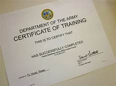 Army Certificates Of Training Waiting Minzilla Back To School