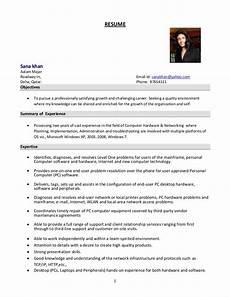 Resume Format For Admin Officer System Administrator Resume Format