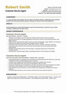Customer Service Agent Resume Customer Service Agent Resume Samples Qwikresume