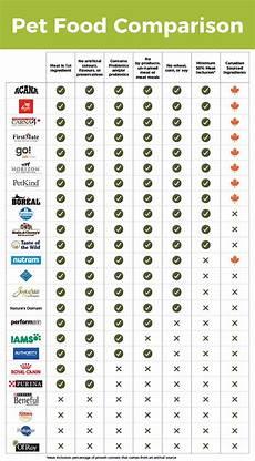 Grain Free Dog Food Comparison Chart Dog Food Comparison Chart Infographic