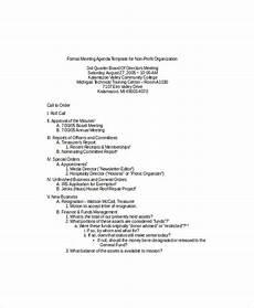 Agenda Of Meeting Sample Format 9 Formal Meeting Agenda Templates Pdf Doc Free