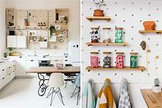 kitchen pegboard ideas 9 ideas for using pegboard and dowels to create open shelves