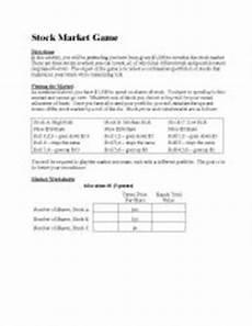 Stock Market Worksheet Stock Market Game And Worksheet Esl Worksheet By Jaguar92
