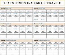 Fitness Log Example S Fitnes Tips S Fitness Training Log 2015