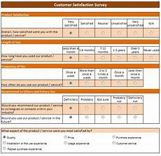 Customer Satisfaction Form Free Data Collection Templates On Excel Customer