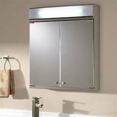 brilliant aluminum medicine cabinet with lighted mirror