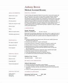 Skills For Medical Assistant Free 8 Sample Medical Assistant Resume Templates In Pdf