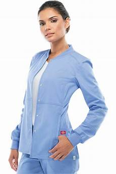 sleeve scrubs dickies s new sleeve pocket snap front warm up