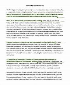 Example Essay Argumentative Sample Persuasive Essay Template Business