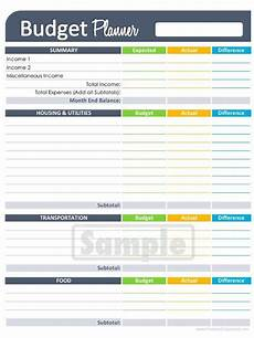 Simple Budgeting Tool Budget Worksheet Editable Personal Finance Organizing