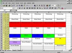 Make Schedule In Excel Creating A Class Schedule Using Excel