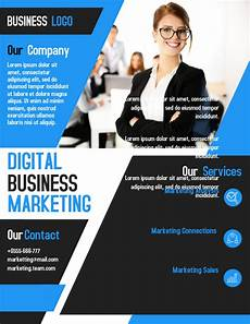 How To Make A Business Flyer Online For Free Digital Marketing Business Flyer Template Design