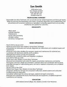 Auto Resume Maker Automotive Resume Templates To Impress Any Employer