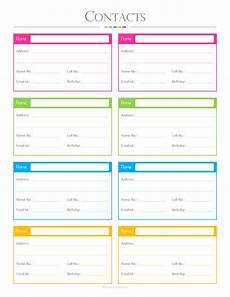 Contact List Format Contacts List Pdf Planner Contact List Checklist List To