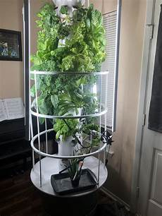 Garden Light Tower My Poor Excuse Of A Garden Hydroponic Tower Garden Filled