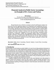 financial analysis example financial analysis in public sector accounting an example