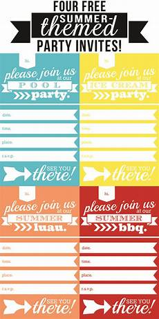 Summer Party Invites Four Free Summer Themed Party Invites