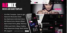 Music Html5 Template Themeforest Remix Music And Band Html5 Template Rip