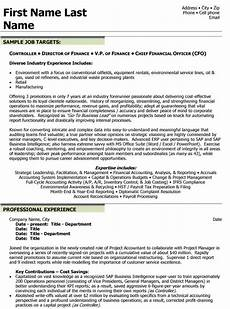 Chief Financial Officer Resume Top Finance Resume Templates Amp Samples