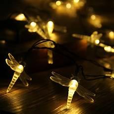 Long Solar Fairy Lights 30 Led White Solar Power Dragonfly Fairy String Lights