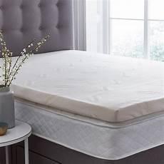 silentnight impress 7cm memory foam mattress topper in 4