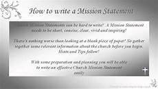 Mission Statement Sample How To Write Church Mission Statements Youtube
