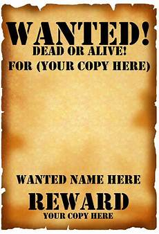 Free Printable Poster Templates 18 Free Wanted Poster Templates Fbi And Old West Free