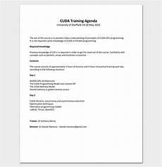 Training Agenda Template Word Training Agenda Template For Word Excel Amp Pdf