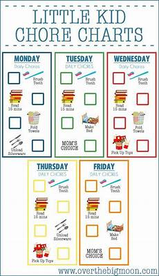 Little Kid Chore Chart 112 Best Visuals And Charts For Chores And Behavior Images
