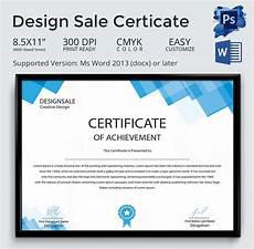 Certificate Format Template Achievement Award Template 12 Word Pdf Documents