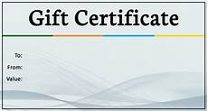 Sample Gift Certificate Template 19 Business Gift Certificate Templates Word Psd Ai