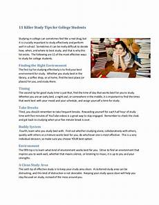 College Study Tips For Freshmen 11 Killer Study Tips For College Students