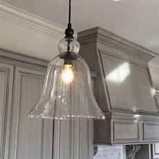 Large Glass Pendant Light Fixtures Kitchen Large Glass Bell Hanging Pendant Light Hanging