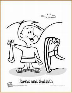 David Hides From Saul Coloring Page Bible Class David