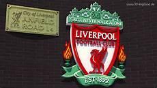 liverpool wappen wallpaper 3d logo fc liverpool anfield road 4k