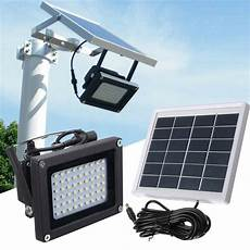 Rechargeable Outdoor Security Light 54 Led Floodlight Solar Powered Sensor Waterproof Outdoor