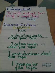 Poetry Success Criteria Cinquain Poem Success Criteria Poetry Month Full Speed
