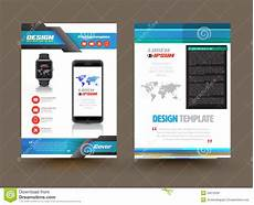 Electronic Brochure Software Vector Brochure Template Design For Technology Product