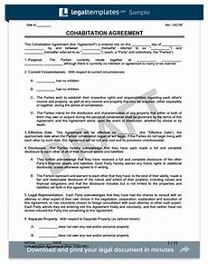 Cohabitation Agreement Sample Free Cohabitation Agreement Templates