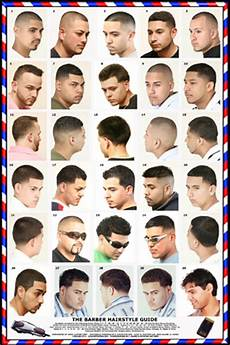 Barber Shop Haircut Styles Chart 06 1hsm Mens Hairstyle Guide Poster Barber Depot
