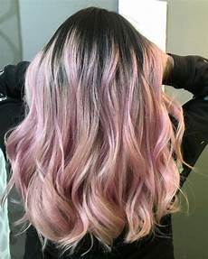 Black To Light Pink Ombre Hair 12 Prettiest Light Pink Hair Color Ideas For 2020