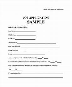 How To Fill Out Job Application Free 31 Employment Application Sample Forms In Pdf Ms
