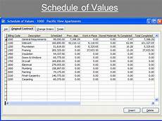 Schedule Of Values Template Free Construction Schedule Spreadsheet Template Business