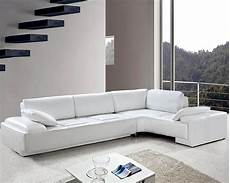 white leather modern design sectional sofa set 44l0738