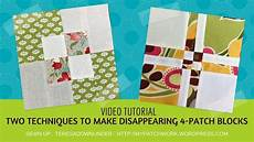 2 techniques to make disappearing 4 patch quilt blocks