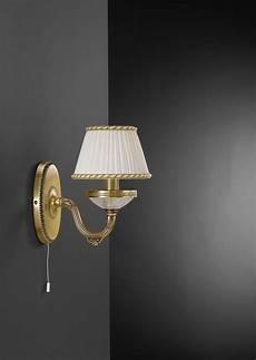 applique con paralume applique in ottone e vetro satinato con paralume 1 luce